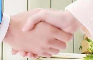 男女之间的友情握手表情图片