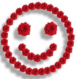 玫瑰花摆的花脸表情图片