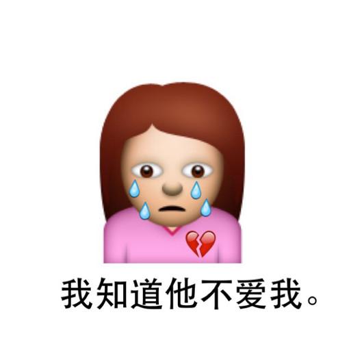 心碎的流泪:我知道他不爱我表情图片