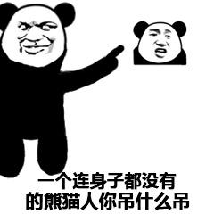 一个连身子都没有的熊猫人你吊什么吊表情图片
