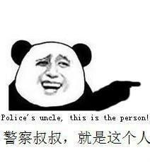警察叔叔就是这个人表情图片